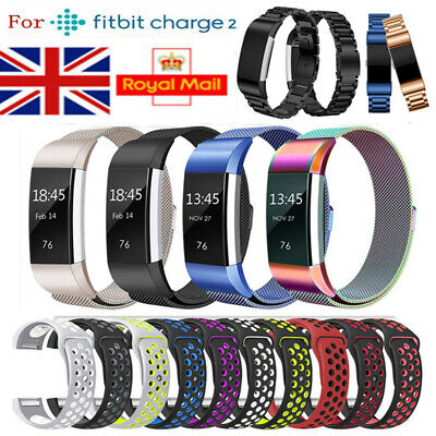 For Fitbit Charge 2 Replacement Band Strap Stainless Steel & Silicone & Leather