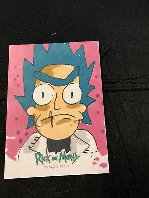 2018 Cryptozoic Rick And Morty Rick Sanchez Sketch Card by Nicole Sloan 1/1