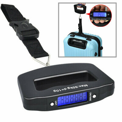 50KG Portable LCD Digital Handheld Travel Luggage Weight Weighing Scale W/ Strap