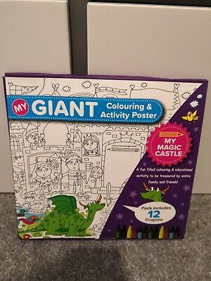 My Giant Colouring And Activity Poster My Magic Castle