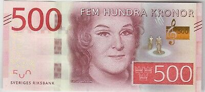 P72 Sweden 500 Kronor 2016 Banknote In Mint Condition