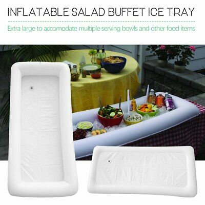 Inflatable Serving Bar Buffet Salad Ice Cooler Picnic Camping Party Yard 8P