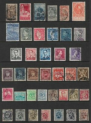 BELGIUM mixed collection No.25, incl perfin, used