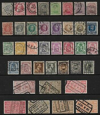 BELGIUM mixed collection No.24, early, incl Railway Parcels, used