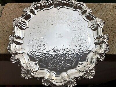 Silver Tray / Salver - Richard Martin & Ebenezer Hall - Sheffield - 1867