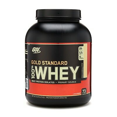 New Optimum Nutrition Gold Standard WHEY Protein 100% 5LB 2.27KG. Retail Package