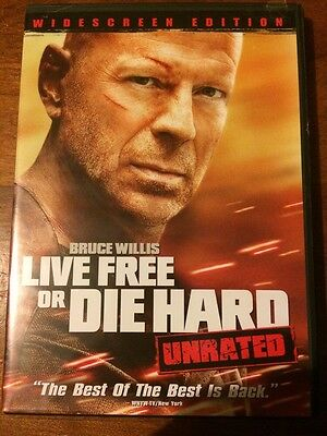 Die Hard 4: Live Free or Die Hard (DVD, 2007, Unrated; Widescreen Single-Disc V)
