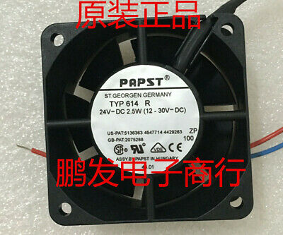 1pcs  PAPST TYP 614R 24V 104mA 2.5W 60*60*25MM Axial Cooling Fan