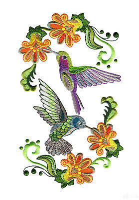 35 Hummingbird Haven Designs for Machine Embroidery - On a CD