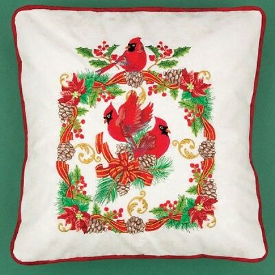 36 Regal Christmas Cardinal Designs for Machine Embroidery - On a CD