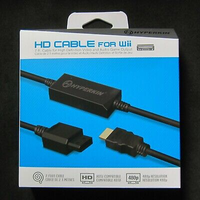 Brand New Hyperkin Wii HD HDMI Cable Adapter for Nintendo Wii Console to HDTV