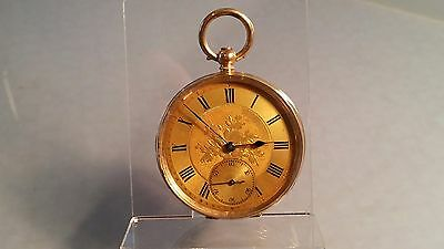 Edwardian period 14ct gold full size 48mm man's Gold pocket watch 82 grams