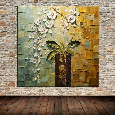 Large Handpainted Flower Abstract Knife Oil Painting On Canvas Wall Art Modern