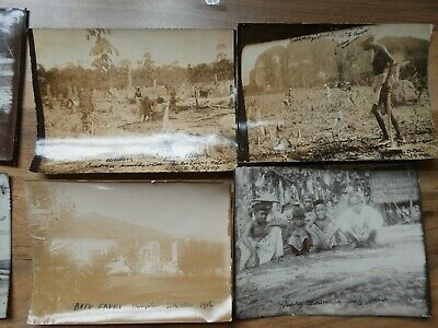 8 Photographs c 1905/8 Of Batu Caves Selangor, Singapore & Johare CUTHBERT