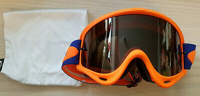 Oakley O-Frame MX Enduro MTB Brille Checked Blau Orange KTM Graues Glas