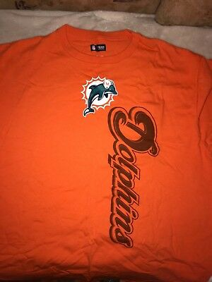 MIAMI DOLPHINS NFL Team Apparel Longsleeve Shirt Jersey Orange  for sale