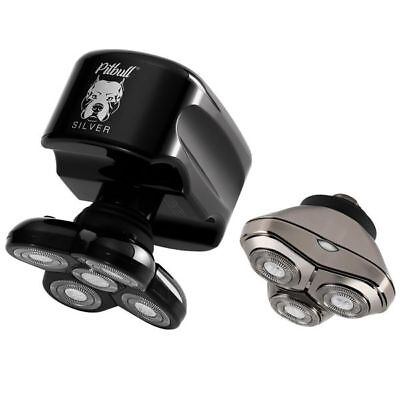 Skull Shaver Pitbull Silver Plus CR3 -New Open Box Head Shaver USB & UK Plug