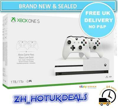 BRAND NEW SEALED Xbox One S Two-Controller Bundle (1TB) 1 month Xbox Game Pass
