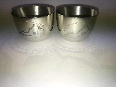 Virginia Wounded Warrior Program Veterans Camelot Pewter Engraved Jefferson Cups