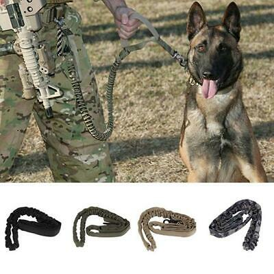 Dog Canine Military Tactical Training Elastic Leash Strap Rope Camouflage BL3