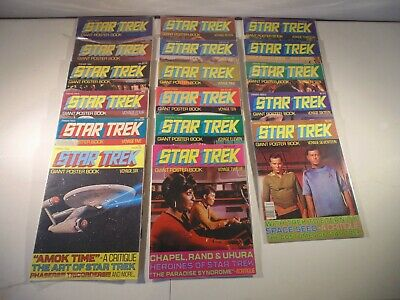 1977 Star Trek Giant Poster Books 1-17 VERY NICE!