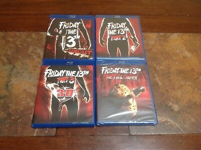 Friday The 13TH Uncut,2,3 3-D & The Final Chapter (Blu-Ray