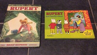 Vintage Rupert Annual 1971 Daily Express Collectable Rare  Book +pop up book