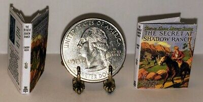 1:12 Scale Miniature Book The Secret At Shadow Ranch Nancy Drew Illustrated