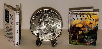 1:12 Scale Miniature Book The Clue In The Diary Nancy Drew Illustrated