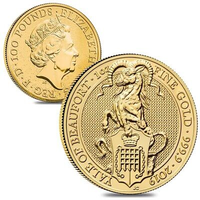 Lot of 2 - 2019 Great Britain 1 oz Gold Queen's Beasts (Yale) Coin .9999 Fine BU