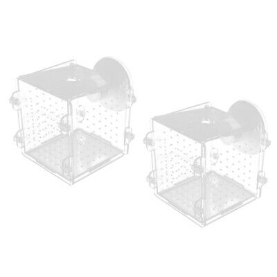2x Fish Breeding Isolated Box Hatching Incubator Fish Separate Aquarium