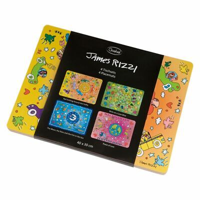 "Goebel James Rizzi Set Manteles Individuales"" Pop Art "", Kit de 4"