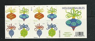 2011 #4578b Holiday Baubles Complete Booklet with SSP printing #4575-78