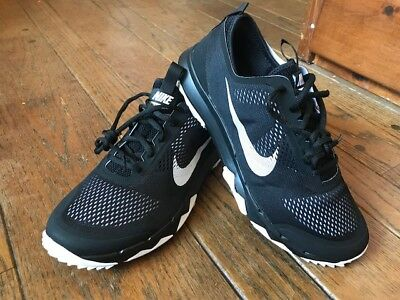 4308a1eb57873 Mens Nike FI Bermuda Spikeless Golf Shoes Black 11 WIDE 776122 002 New