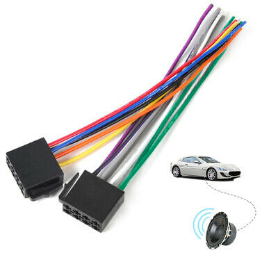 universal car stereo female iso radio wire harness adapter connector  uk car radio female stereo install wire wiring harness cable dash plug adapter