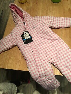 Trespass Pink Girls Snowsuit 18-24