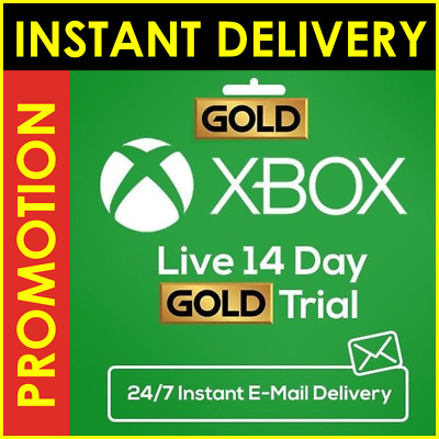Xbox Live Gold 14 Days 2 Weeks Trial Code WORLDWIDE - INSTANT Email Delivery