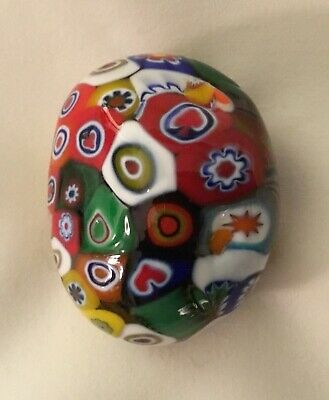 Hand Blown Millefiori Paperweight