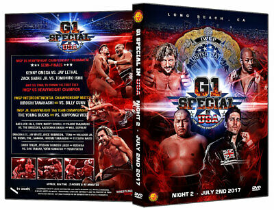NJPW - G1 Speaicl in USA Night 2 DVD Young Bucks Ospreay Liger Omega Sabre Cody