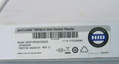 HID RP40-H pivCLASS Wall Switch Reader 920PHRNEK00005 [CTNO]