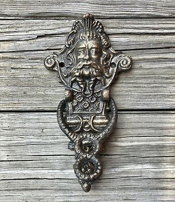 Cast Iron Mythical Gothic Face Vintage Door Knocker