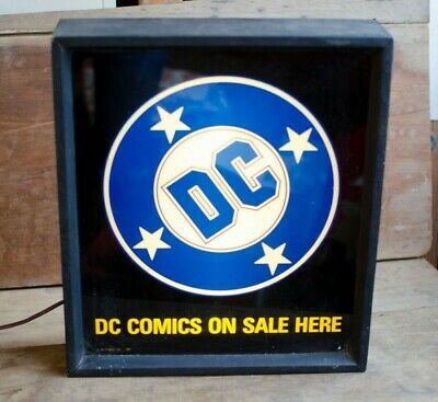 Rare Find DC Comics on sale here sign 1989 Promo light sign