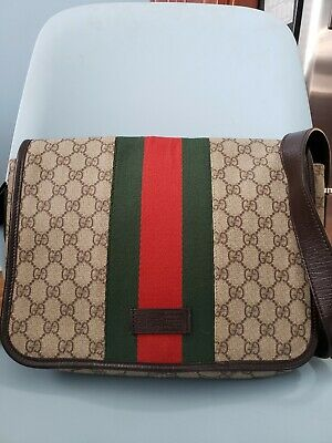 e0042b710 BEAUTIFUL GUCCI GG Supreme 211137 Tote Bag Beige/ebony Brown Lining ...