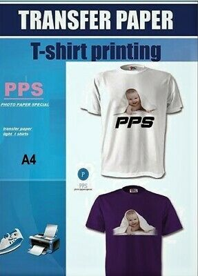 G-4 A4 T Shirt Transfer Paper X 10 Sheets Only £6.10 Free P&P