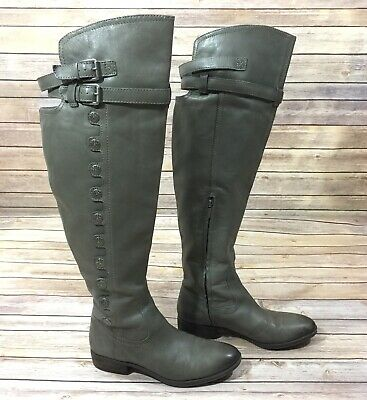 d5b121079423d SAM EDELMAN Womens Size 9 Riding Boots Pierce 2 Slate Gray Leather Athletic  Fit