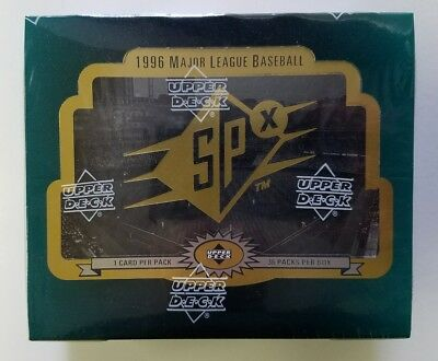 1996 Upper Deck SPx Baseball Factory Sealed Hobby Box