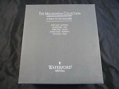Waterford Millennium Collection Toast To Year 2000 Prosperity Toasting Flutes