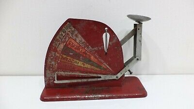 Vintage Jiffy Way Manufacturing Company Red Metal Poultry Egg Scale