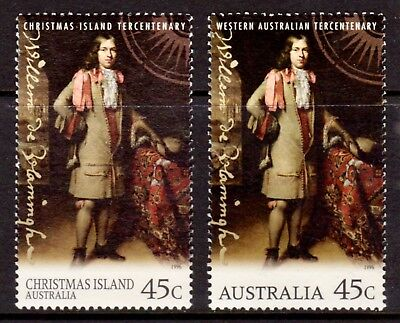 1996 Christmas Island De Vlamingh Joint Issue Pair Fine Used