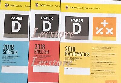 ICAS Year 6 (Paper D) Past Papers set - including 2018 papers